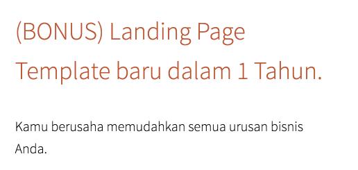 Bonus Landingpress